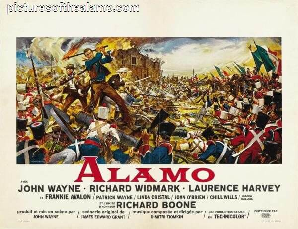 Our commissioned painting inspired by the 1960 motion picture Alamo's promotional poster.